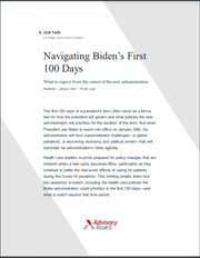 Navigating Biden's First 100 Days Our Take PDF cover page
