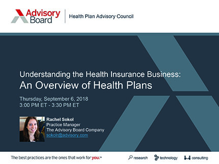 Overview of Health Plans