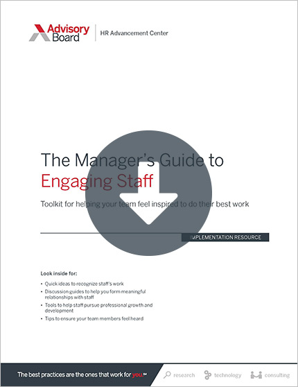 manager's guide to engaging staff