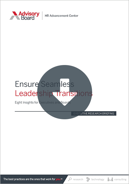 health care leadership transitions