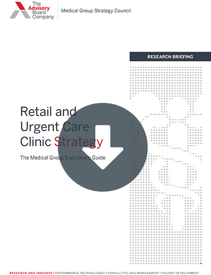 Retail and urgent care clinic strategy