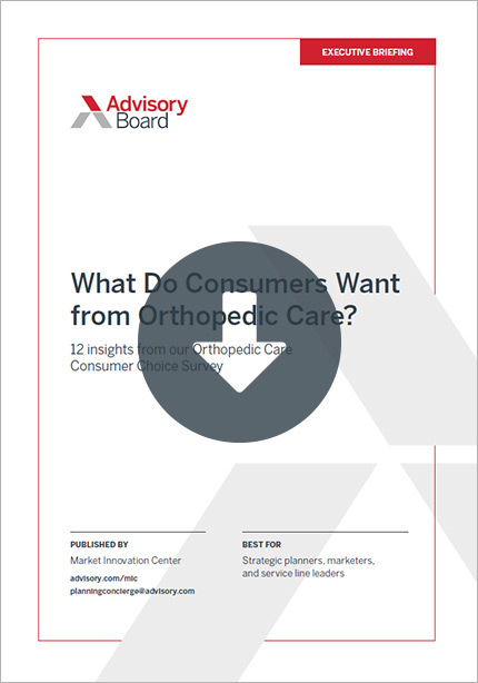 What Do Consumers Want from Orthopedic Care