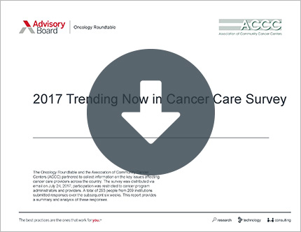 trending now in cancer care survey results