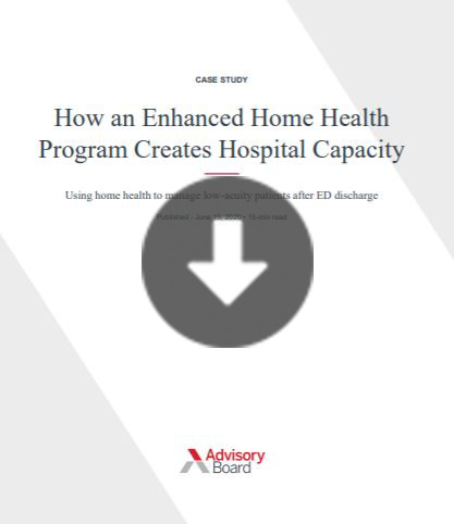 How UNC discharges patients from the ED to their Enhanced home health program
