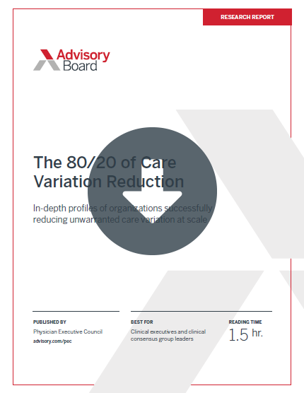 The 80/20 of Care Variation Reduction
